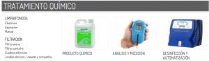 tratamientos diferentes desinfectantes en en agua
