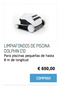LIMPIAFONDOS DE PISCINA DOLPHIN E10