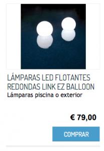 LÁMPARAS LED FLOTANTES REDONDAS LINK EZ BALLOON