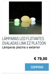 LÁMPARAS LED FLOTANTES OVALADAS LINK EZ PLATOON