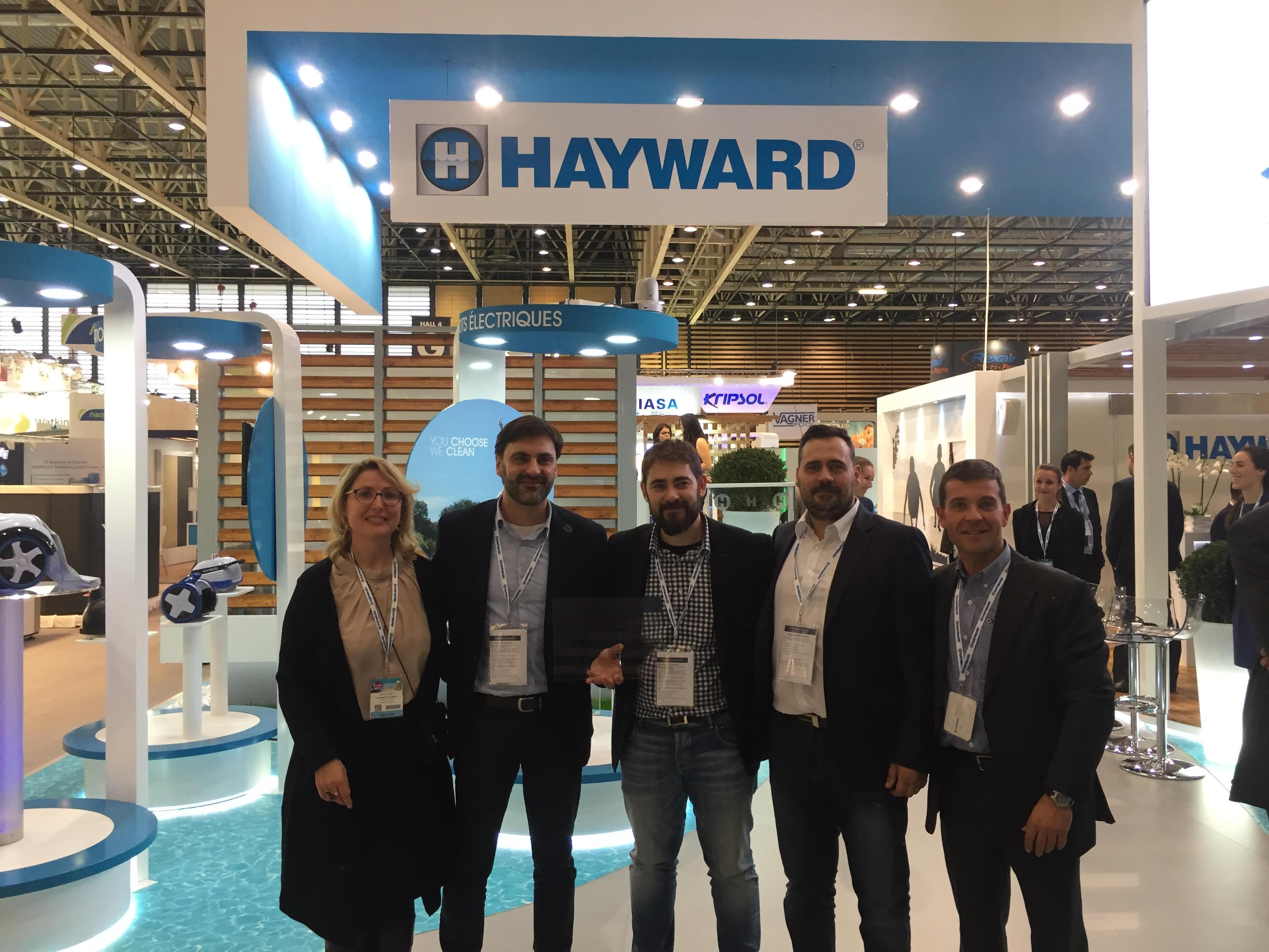 Sandrine Carata - Directora Marketing South Europe, Jordi Zapatero, David Zapatero, Marcos Iñiguez y Oriol Bayod y Emilio de Juan accounts managers de hayward.